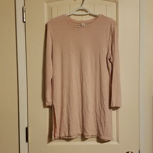 Rose pink tunic with side slits